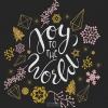 Productafbeelding Cadeaubord kerst vierkant Joy to the world